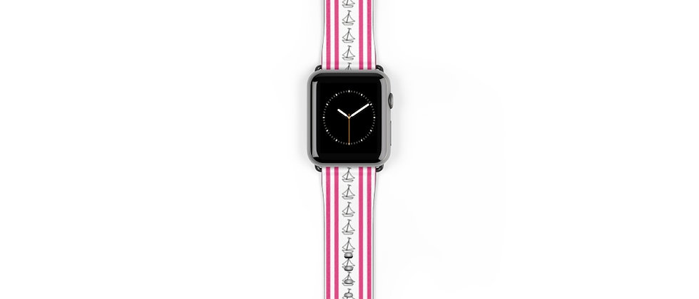 Simplistic Stripe Pink Watch Band by Charles Tybee