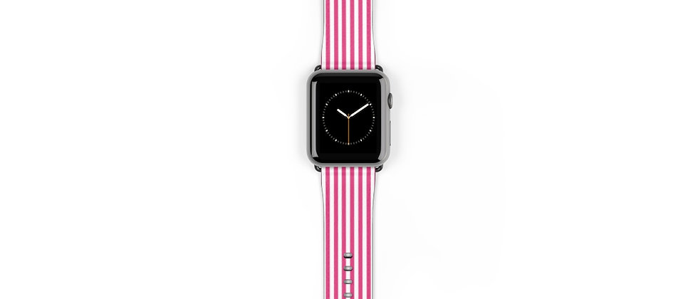 Stripe Pink Watch Band by Charles Tybee