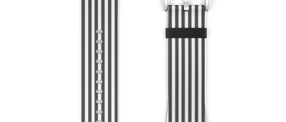 Stripe Black Watch Band by Charles Tybee
