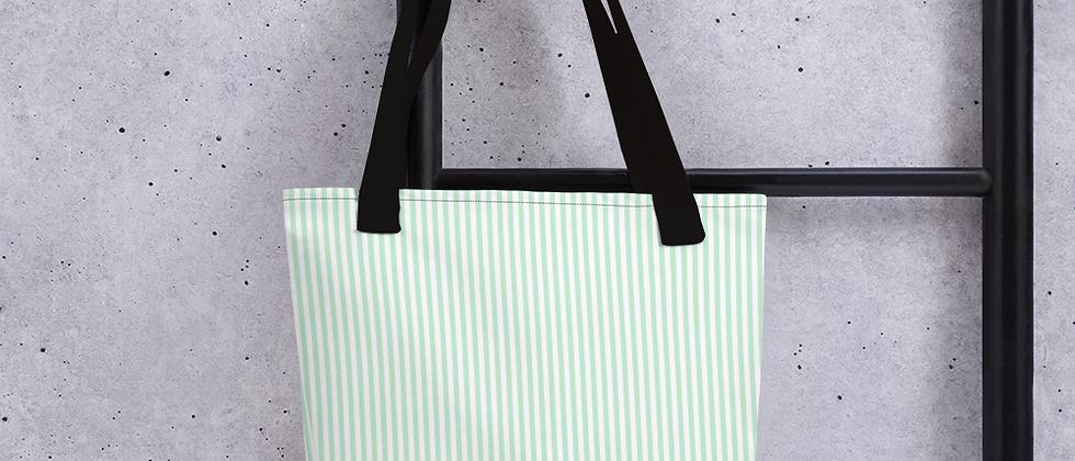 Green Pinstripe Tote bag
