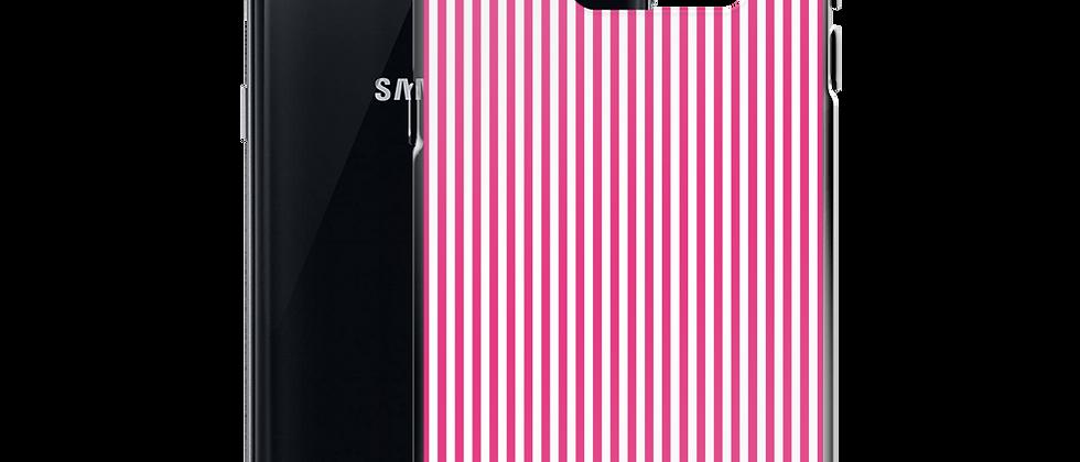 Pink Pinstripe Samsung Case