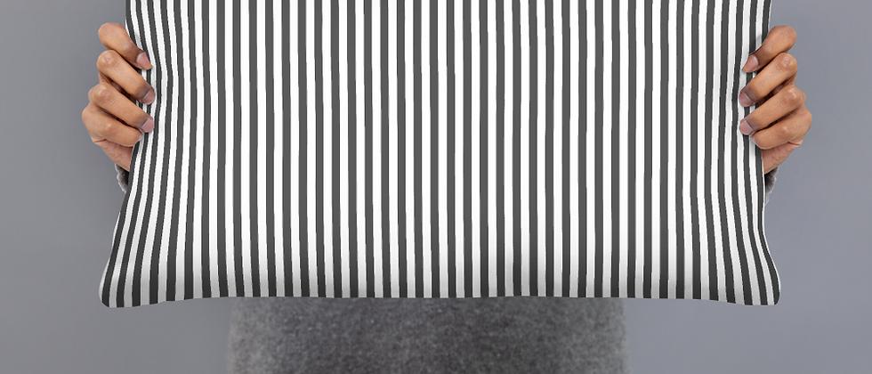 Black Pinstripe Pillow