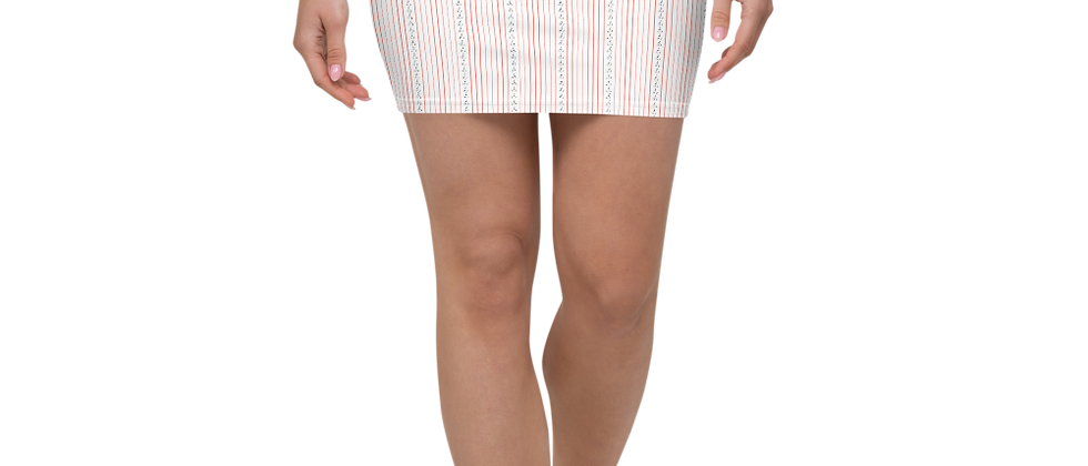 Coral Vertical Sailboat Mini Skirt