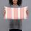 Thumbnail: Coral Vertical Sailboat Pillow