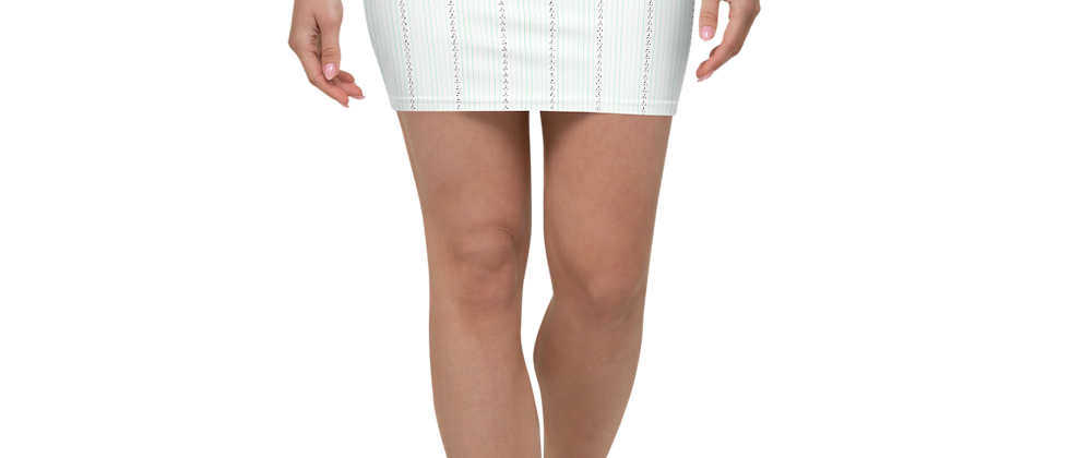 Black Vertical Sailboat Mini Skirt