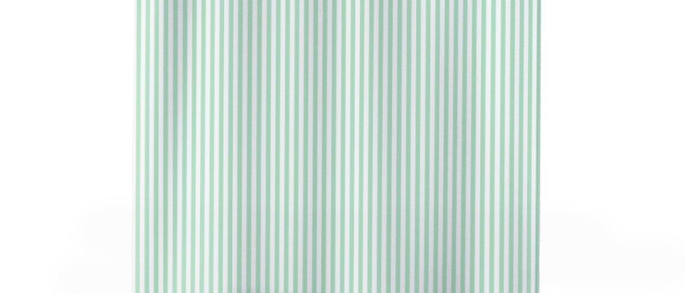 Green Stripe Shower Curtain by Charles Tybee