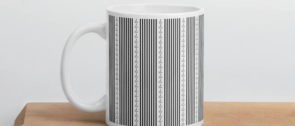 Black Vertical Sailboat Mug
