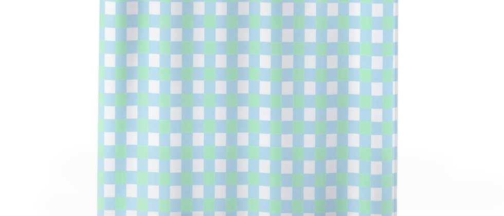 Gingham Blue Shower Curtain by Charles Tybee