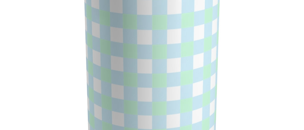 Gingham Blue Tumbler by Charles Tybee