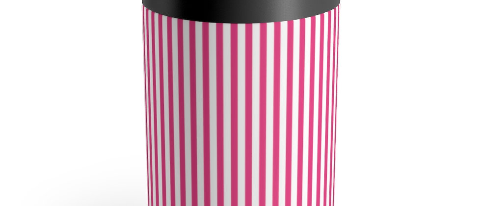 Pink Stripe Can Holder by Charles Tybee