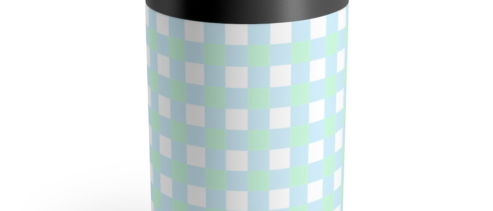 Gingham Blue Can Holder by Charles Tybee