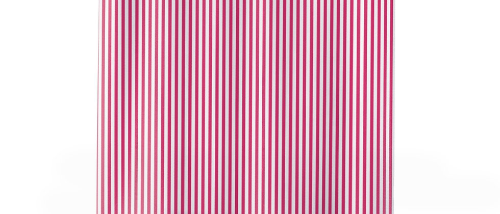 Pink Stripe Shower Curtain by Charles Tybee