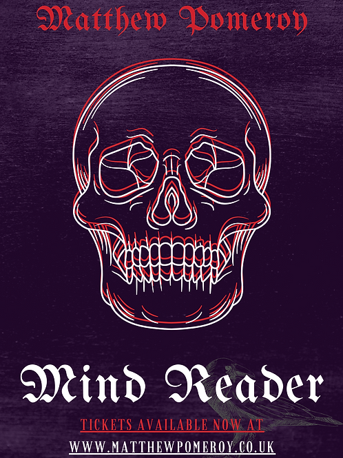 Hand Signed 'Mind Reader' Poster (Silver/Gold Ink)