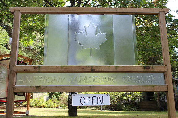 Glass Canadian Flag