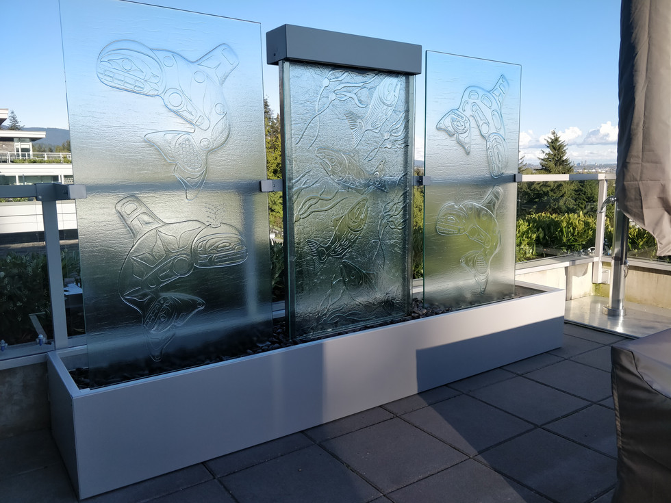 Three Panel First Nations Water Feature