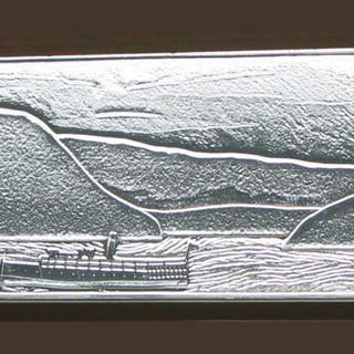 Three Panel Window With Boat