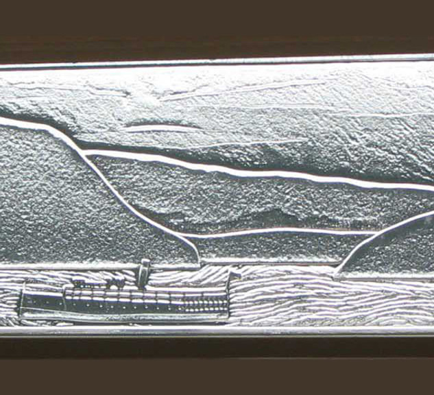 Three Panel Window With Boat
