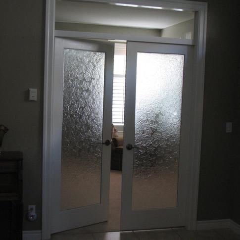 Maple Texture French Doors