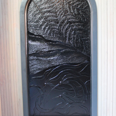 Black Glass Feature Panel