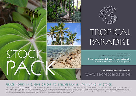 Instant download - TROPICAL PARADISE - 50 ITEMS