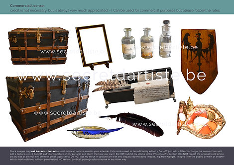 Instant download - PNG pirate chest and other objects