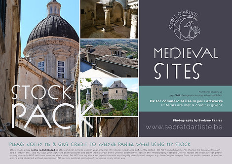 Instant download - MEDIEVAL SITES PACK 1 - 50 ITEMS
