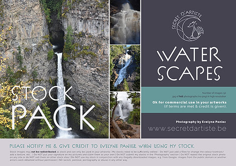 Instant download - WATERFALLS and SCAPES - 50 ITEMS