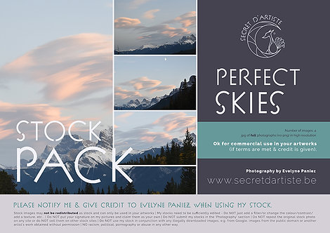 Instant download - Perfect sky - 4 ITEMS
