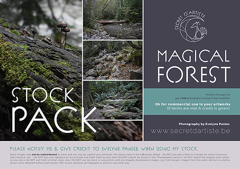 Instant download - FOREST PACK 1 - 50 ITEMS