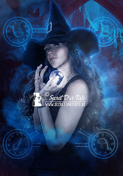 Blue sapphire witch