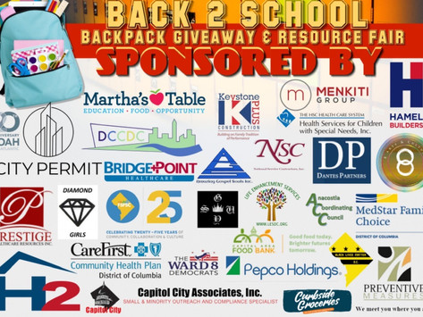 Backpack Drive for Ward 8
