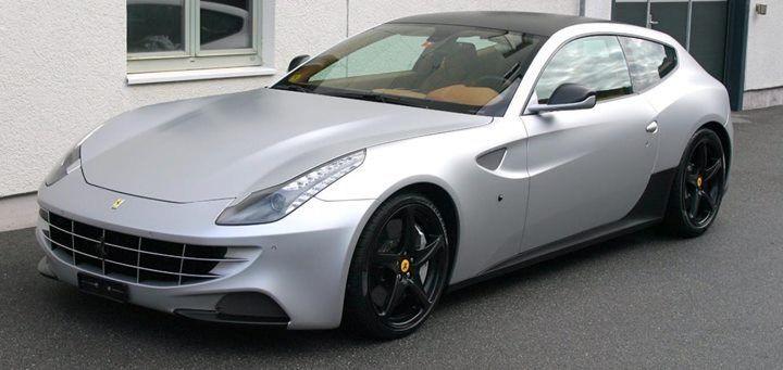 Silber Met Carwrap für Ferrari FF
