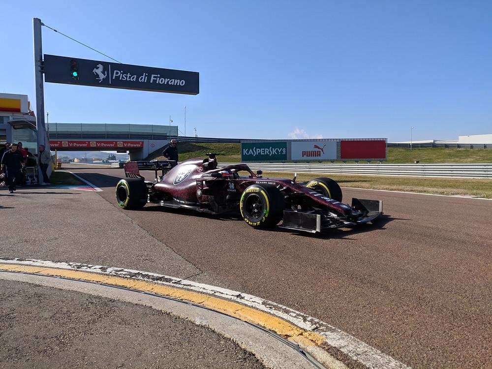 Unsere FOlierung für Sauber Motorsport Alfa