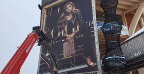 Big Banner auf der Madrisa