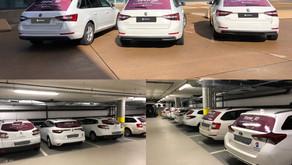 Swisscom setzt auf G&G, Lochfolien Werbung auf über 30 Fahrzeuge.