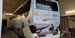 Kuoni Traveller International.Digitaldruck Beschriftung, Airport Frankfurt