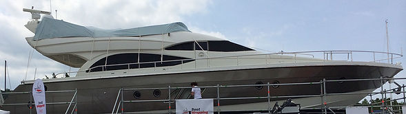 Yacht Folierrungen in neuer Farbe