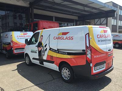 Carglass Schweiz vertraut im Design auf G&G