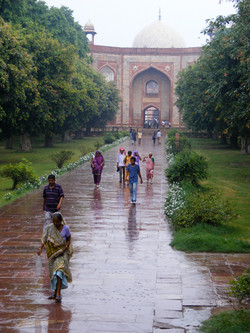 Monsoon in Delhi, India.