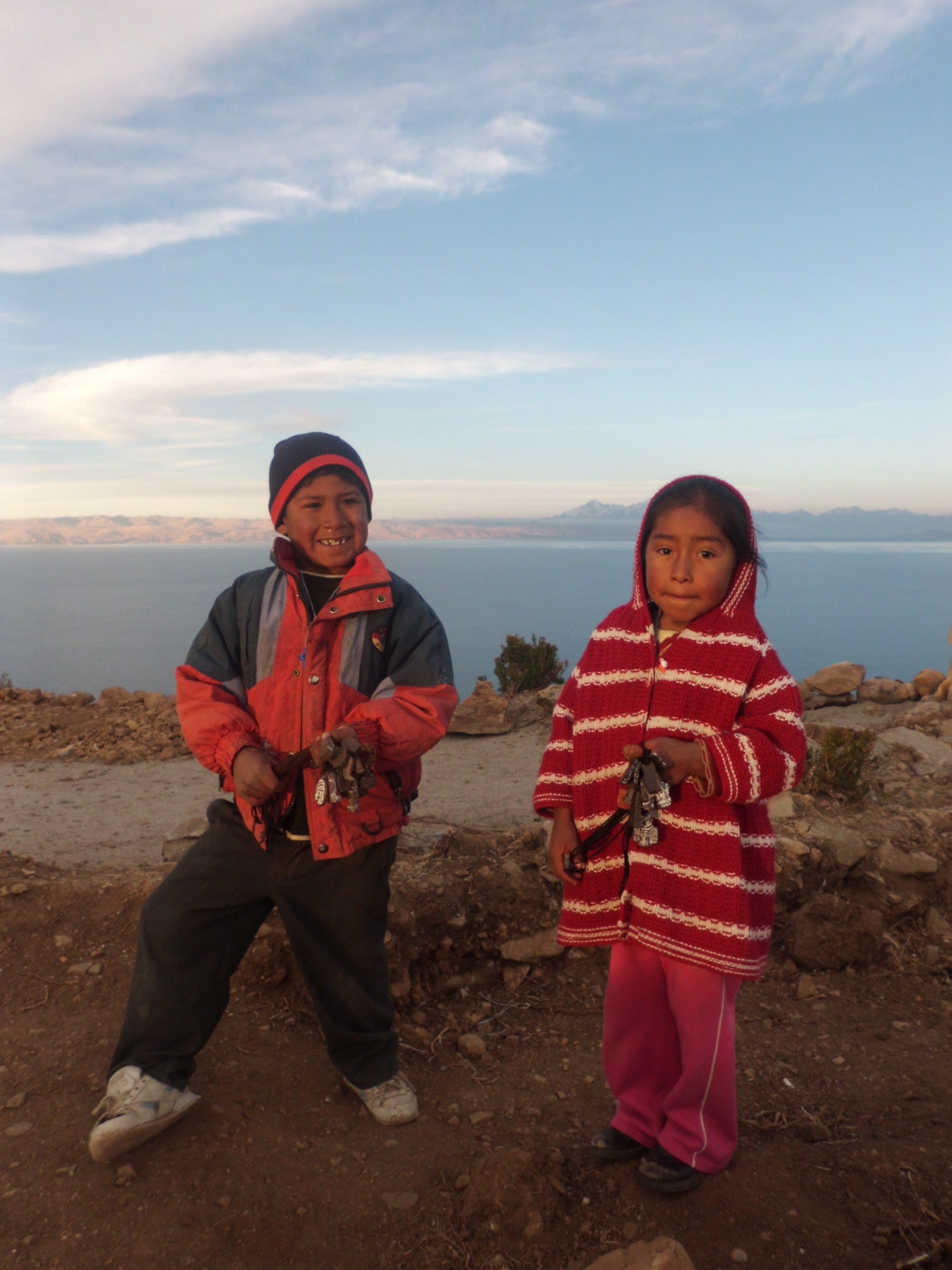 Local kids at Lake Titicaca, Bolivia