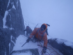 Scottish winter climbing.