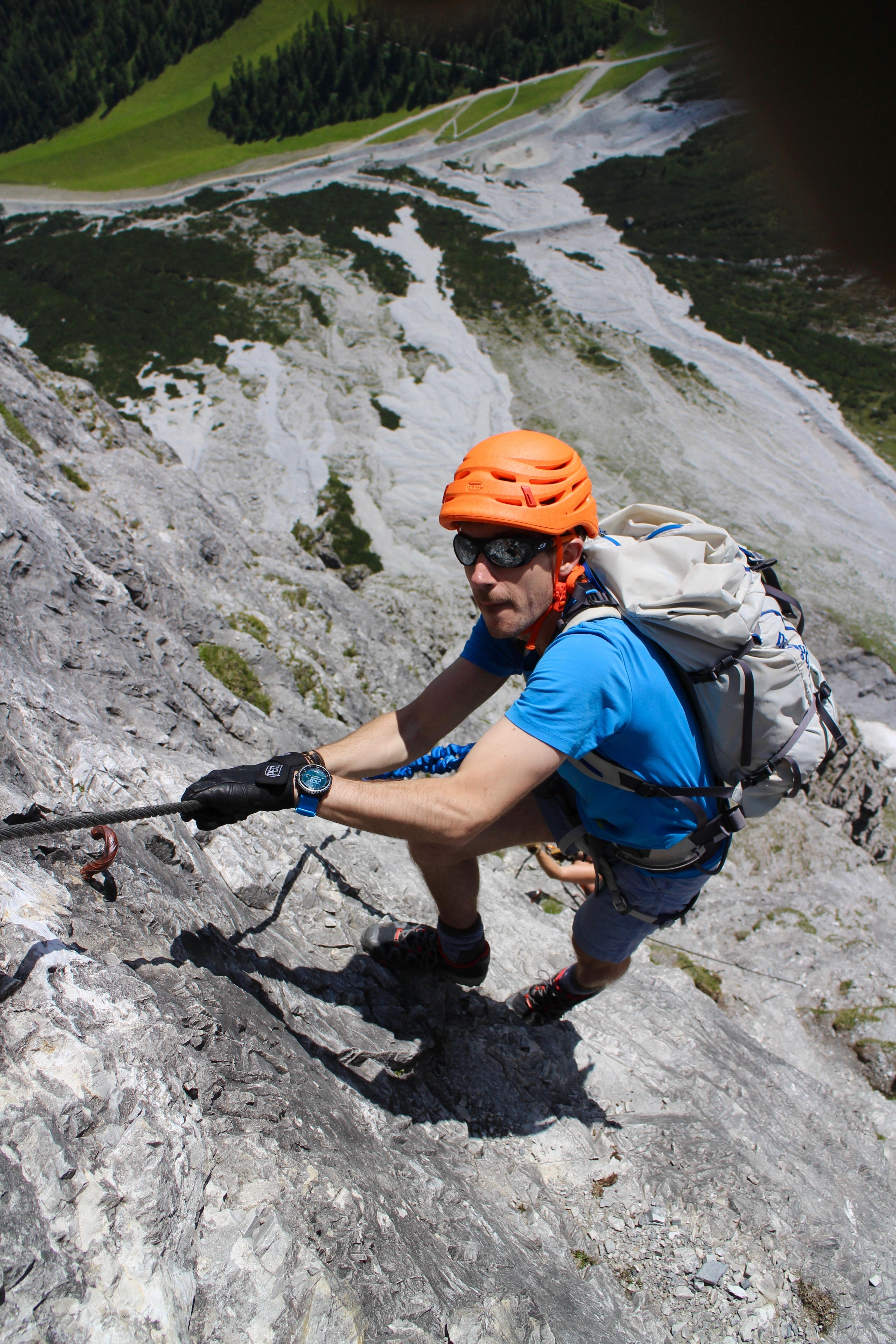 Ochsenwand via ferrata, Austria.
