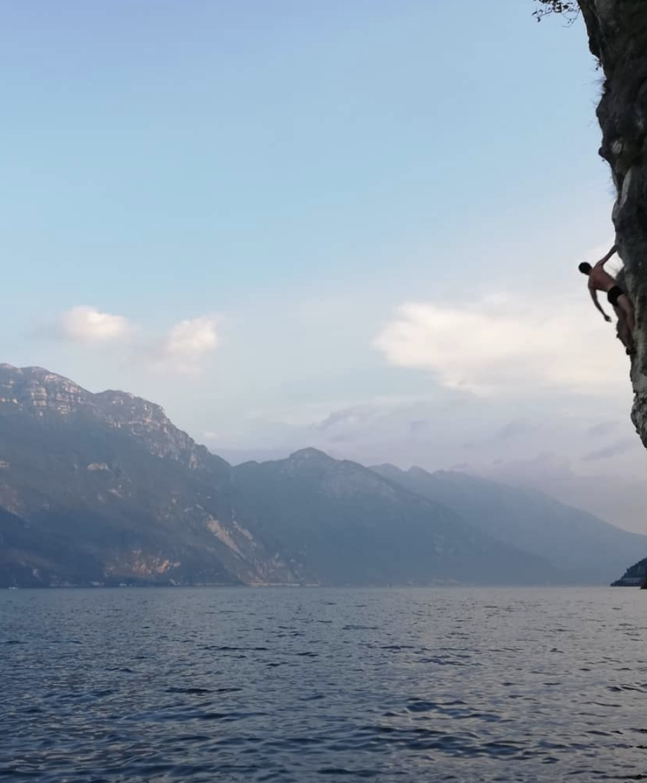 Deep Water Solo Climbing at Lake Garda