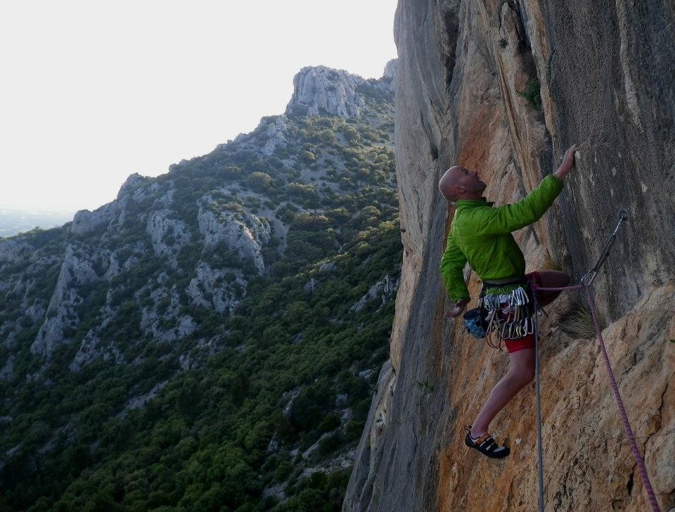 Rock Climbing in Provence, France.