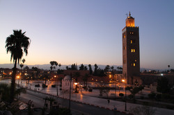 Marrakech at sunrise.