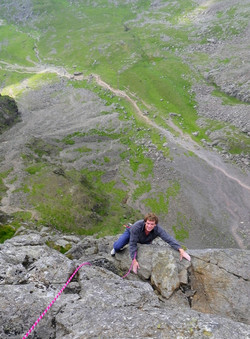 Rock climbing in the Lake District.