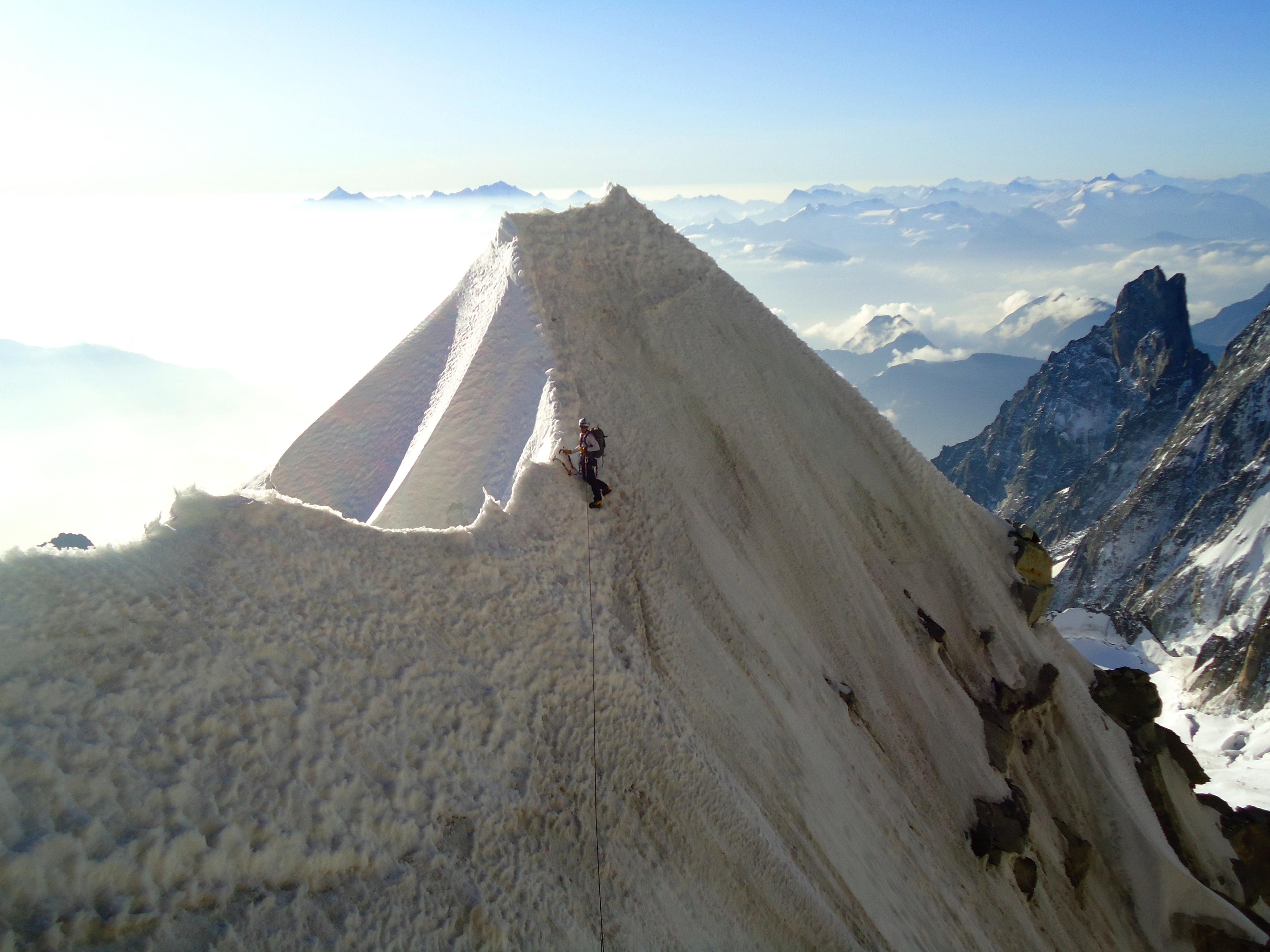 Frontier Ridge, Mont Blanc, France.