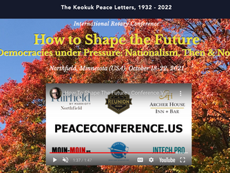 Rotary Keokuk Peace Letters, 1932-2022:           Nationalism, Then & Now - Invite Peace Conference