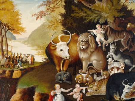 The Peaceable Kingdom, 1834 & Jerusalem, 1931/2020