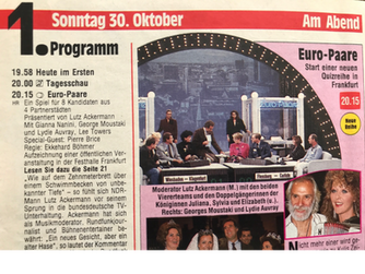 "Video TV Show ""Euro-Paare"" (Nachfolge 'EWG - Kulenkampff)"